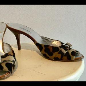 Dolce & Gabbana leopard print mules